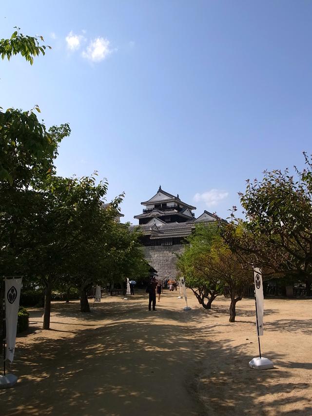 松山城。石垣に関してずっとうんちくを垂れているおじさまがいた。